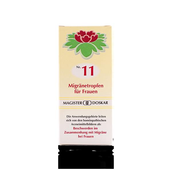 Magister Doskar Homöopathie Nr. 11 Migränetropfen für Frauen