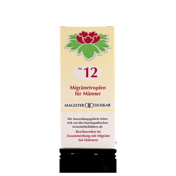 Magister Doskar Homöopathie Nr. 12 Migränetropfen für Männer