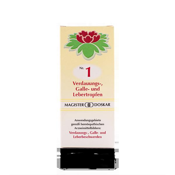 Nr. 1 Verdauungs-, Galle- und Lebertropfen
