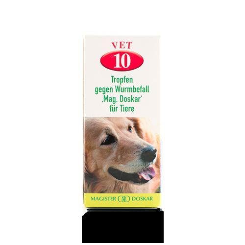 Vet. Nr. 10 Tropfen gegen Wurmbefall