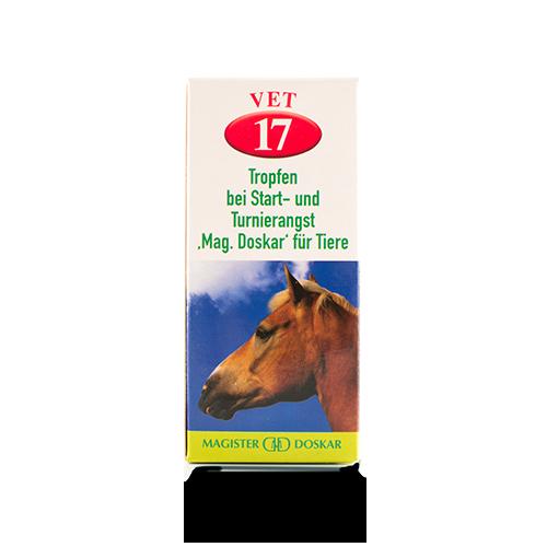 Tropfen bei Start- und Turnierangst Mag. Doskar für Tiere