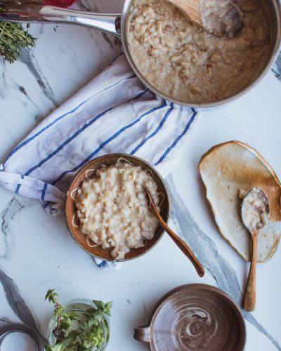 Ein warmes Porridge ist sehr gesund.
